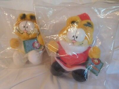 Vintage Christmas Garfields - Santa and Angel Garfield - NEW original package