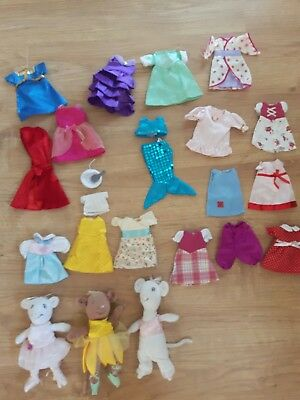 Angelina Ballerina And Alice Mouse Soft Toys And Lots Of Clothes
