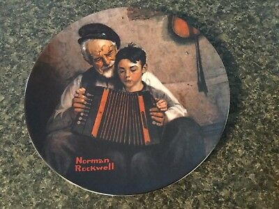 "Norma Rockwell Plate. Limited Edition. ""The Music Maker"""