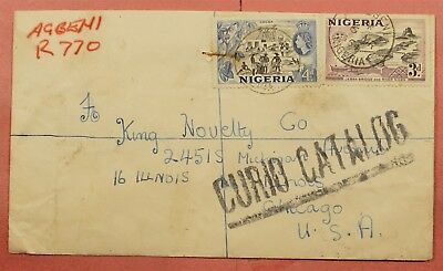 1954 Nigeria Agbeni Cancel Registered Cover To Usa