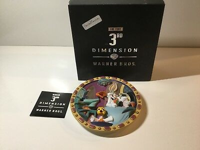 Warner Brothers 3rd Dimension 3D Looney Tunes Carrotblanca Plate with Box