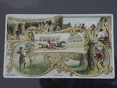 Kentucky Trade Card-Vintage Arbuckle Coffee-#4 History Of The U.s. & Territories