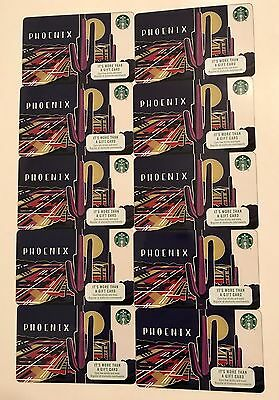 Lot of 10 - Starbucks Phoenix Gift Cards - Valley of the Sun - Cactus NEW