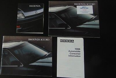 1988 Honda Accord Brochure In Excellent Condition. 2 Page Photo Ad