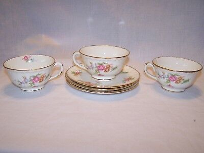 Pope Gosser Mary Ellen Cup and Saucer - Set of 3