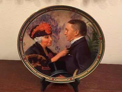 1987 Norman Rockwell's American Dream Series 8th Collector Plate: Love's Reward