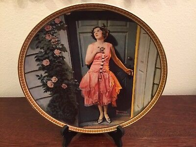 1983 Norman Rockwell's Rediscovered Women 7th Plate Standing in the Doorway