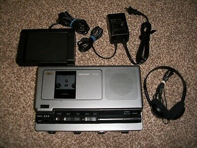 Sanyo TRC-8030 Memo-Scriber With Foot Pedal,  AC Adapter & Headphones - WORKS !!