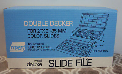 Logan Electric Double Decker for 2 X 2 slides No. 1500G Holds 1500 Slides New!