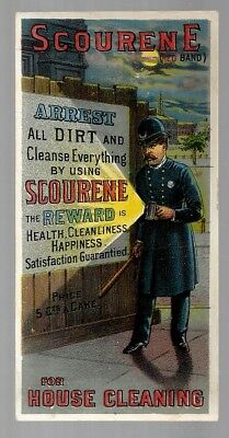 Scourene Scouring Soap late 1800's trade card - policeman