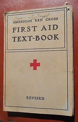 Vintage Red Cross First Aid Textbook -- 1940