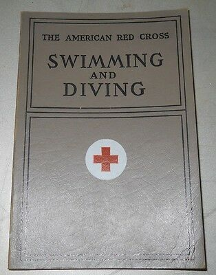 Vintage Red Cross Swimming and Diving Textbook -- 1938