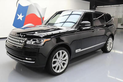 2015 Land Rover Range Rover Supercharged Sport Utility 4-Door 2015 LAND ROVER RANGE ROVER L SUPERCHARGED 4X4 NAV 21K #239243 Texas Direct Auto
