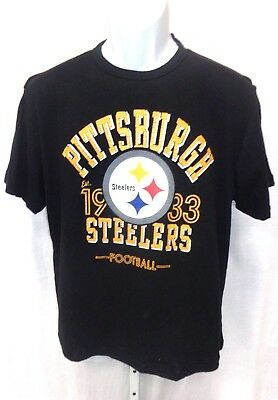 Pittsburgh Steelers Football Short Sleeve Shirt Black New *Imperfect*