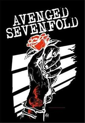"""AVENGED SEVENFOLD Rock flag/ Tapestry/ Fabric Poster A7X """"Rosehand""""   NEW"""