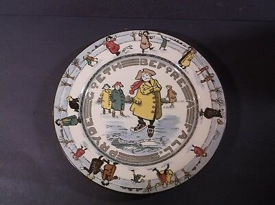 Royal Doulton old time skaters plate