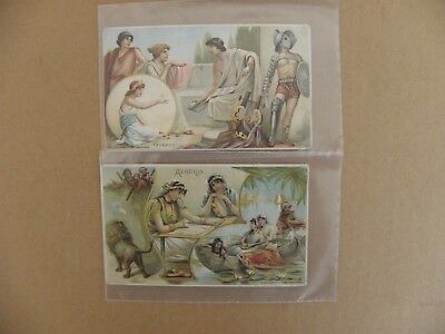 Lot Of 9 Cards-Vintage Arbuckle Coffee- Sports & Pastimes Of All Nations