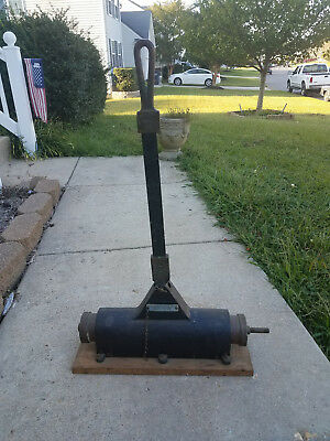 Antique E J Willis Air Pump original to Snead Shallow Water Cast Iron Helmet