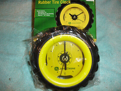 John Deere Rubber Tire Collectable Clock DR1000-03