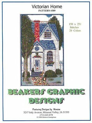 VICTORIAN HOME Counted Cross Stitch detailed #0389