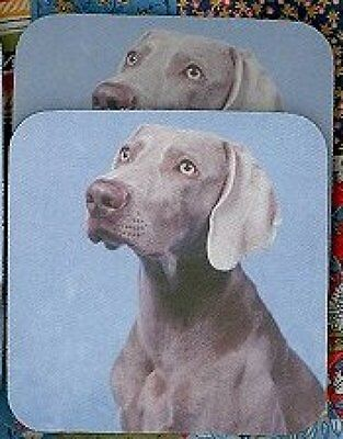 WEIMARANER Rubber Backed Coasters #1026