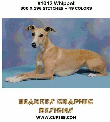 WHIPPET FAWN Counted Cross Stitch detailed #1012