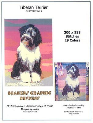 TIBETAN TERRIER Counted Cross Stitch detailed #0625