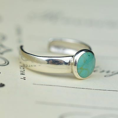 Sterling Silver and Reconstituted Turquoise Gemstone Toe , Boho Jewellery, Gypsy