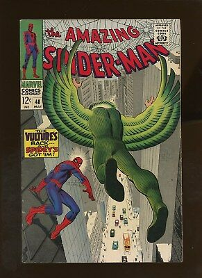 "Amazing Spider-Man 48 VF 7.5 * 1 Book * 1st BD Vulture! ""Death"" of AT Vulture!"