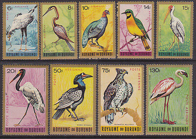 Burundi #C8 to C16 Mint (VLH) 1965 Airmail Birds (Y_34)