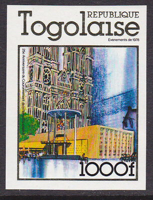 Togo Mint NH 1978 Imperf Westminister Abbey (AB_03a)