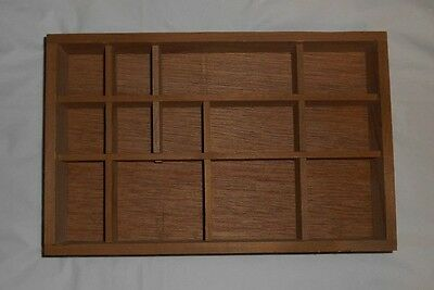 "Wooden 10 3/8"" x 6 5/8 x 1 5/8""  Miniatures SHADOW BOX Printer's Drawer Replica"