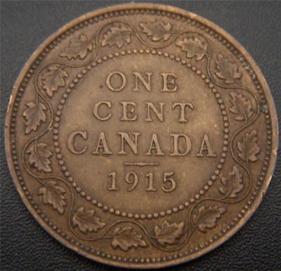 1915 Canadian Large Cent - Mustache, Ear, Lower Band of Crown, and Some Gem Show