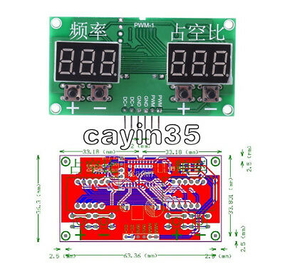 6Hz-100KHz PWM Pulse 0-99% Frequency Square Wave Signal Generator Duty Cycle UK