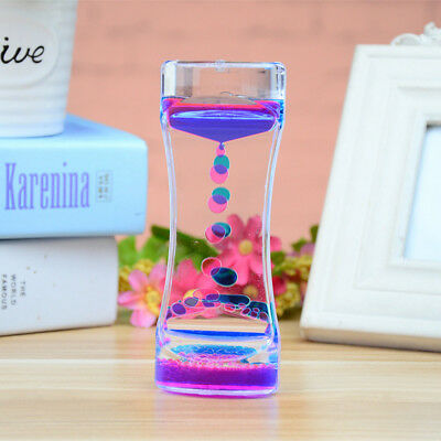 Funny Water Oil Liquid Motion Desk Toy Hourglass Sand Timer Amusement decoration