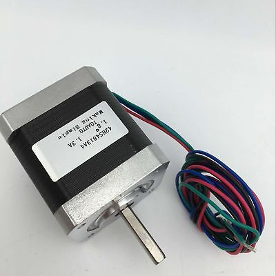 Nema17 Stepper Motor Bipolar 1.5A 0.7Nm(100oz.in) L-60mm for Engraving Machine
