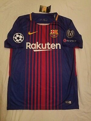 Messi #10 FC Barcelona Champions League Jersey all sizes