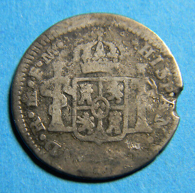 Mexico Silver 1786 ½ Real - Carlos III Colonial Coin KM#69.2a      0432