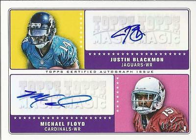 JUSTIN BLACKMON / MICHAEL FLOYD DUAL ROOKIE AUTO CARD /25 SP 2012 Topps Magic RC