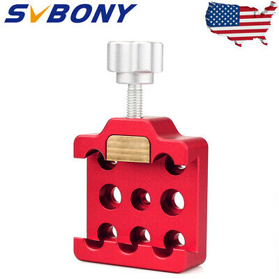 Red Medium Dovetail Clamp w/ Brass & Locking Screw for Telescope Camera US Ship