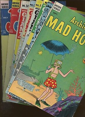 Archie's Mad House 28,42 Archie's Mad House Annual 3  More Archie! ~ 8 Book Lot!