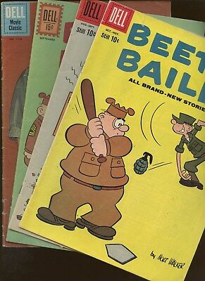 Beetle Bailey 23,28,34 Four Color 1176 ~ 4 Book Lot * Military Humor!!! Dondi!!!