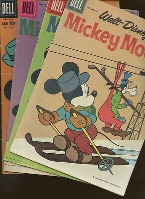 Mickey Mouse 70,71,72 Four Color 1151 ~ 4 Book Lot * Walt Disney!!!