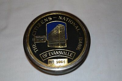 The Citizens National Bank of Evansville Large Metal Bank