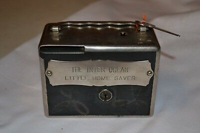 The Inter Ocean Bank Metal Bank with key