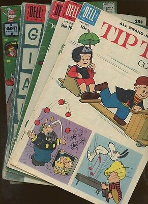 Tip Top Comics 214,218 Marge's Little Lulu 121 Little Lotta 31 More~ 5 Book Lot!