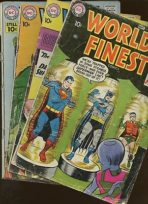 World's Finest 96,104,112,116 ~ 4 Book Lot * Jack and Roz Kirby Back Up!!!