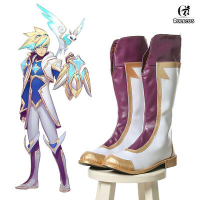 League of Legends LOL Ezreal Star Guardian Boots Cosplay Shoes Prop Customize