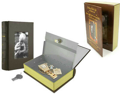 NEW Locking Book Hidden Safe With Lock And Photo Slot - Conceal Your Valuables