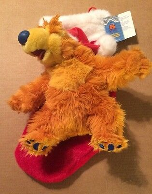 Disney Bear In The Big Blue House Christmas 2000 Motion Activated Singing Stocki